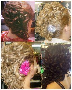 Peinados realizados por Hilda propietaria Estetica New Class