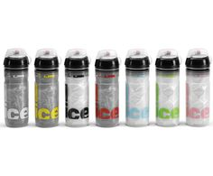 Elite Iceberg http://www.elite-it.com/iceberg/  The sports bottle with a thermal heart  Thermal efficiency and ergonomic design for a superior level sports bottle Isothermal double wall structure Thermal performance: up to 2 hours with cold liquid Bottle body in transparent easy-squeeze polyethylene Ergonomic grip Cap with soft rubber push-pull nozzle and protective cap Capacity: 500 and 650 ml