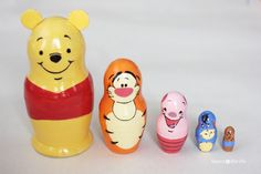 If you've been following my blog for awhile you might have seen my Sesame Street Nesting Dolls and my Disney Nesting Dolls. Well, I got the urge to create another set: Winnie the Pooh Nesting Dolls! Say hello to Pooh Bear, Tigger, Piglet, Eeyore, and little Roo. And I must have good timing because I've …