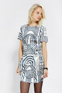 Ad Hoc Digital-Print Dress #urbanoutfitters