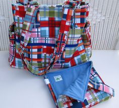 CUSTOM Designer Fabric Handmade Diaper Bag Set $120.00