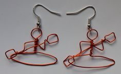 Canoeist wire earrings. Handmade and original. Any by lydswann, £5.00