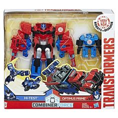 Robots in Disguise Combiner Force Optimus Prime And Hi-Test Activator Combiner Stock Photos