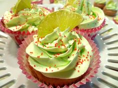 Strawberry Limeade Cupcakes for the next birthday party!
