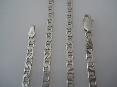 Sterling Silver 925 Small Mariner Link Necklace 16in by Replays