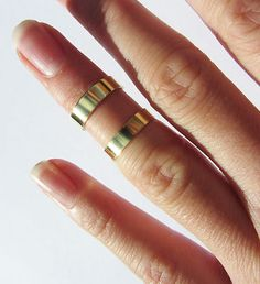 Plain Gold Double Above Knuckle Ring | eBay