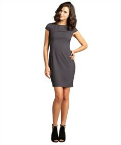 Tahari charcoal melange cap sleeve 'Angie' dress