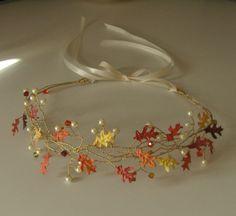 Fall Wedding Hair Vine Wreath Tiara by bksvintageweddings on Etsy, $29.00