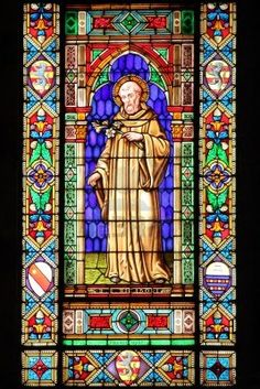 Stained glass window with a Saint  #TuscanyAgriturismoGiratola