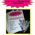 EASY, simple Brain Break activities targeted for Spanish class, but adaptable to many other classes as well. Included is a tag for the Brain Break ...