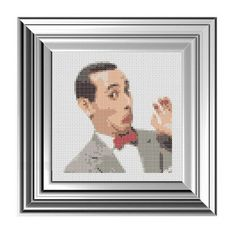 Pattern Funny Cross Stitch Pee Wee Herman Humorous by CrassCross