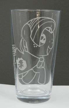 Babs Seed Etched Pint Glass by Toyponystudios on Etsy, $13.50