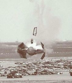 Pilot ejection from a TIE fighter....