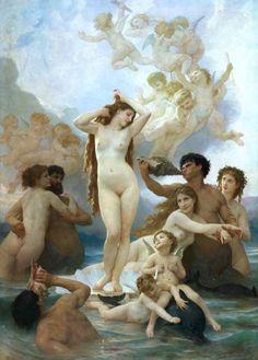 William Adolphe Bouguereau - The birth of Venus