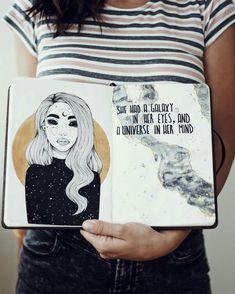 ella tenía una galaxia en sus ojos, y un universo en su mente