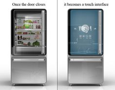 Fridge that is intelligent enough to come up with a healthy recipe, depending on what you stock in it.