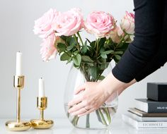 Nappula candle holders in brass, Iittala // In my ballerines