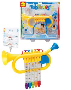 Make some music while bathing! With the Tub Tunes® Water Trumpet, you can experiment with music and learn to play songs during bath time. This real musical trumpet can be tuned with water to create a variety of sounds. Outdoor Toys For Boys, Ukulele Design, Kids Learning Toys, Alex Toys, Baby Bath Time, Best Kids Toys, Bath Toys, Toys Online, Kids Bath