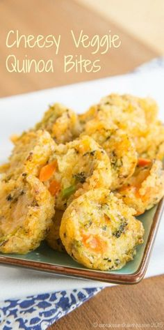Are you looking for the perfect snack idea for picky eaters? These Cheesy Veggie Quinoa Bites are an easy snack idea.
