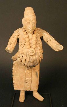 Maya; Male anthropomorphic figure; Ceramic; Period: Late Classic period from 600 to 900 DC