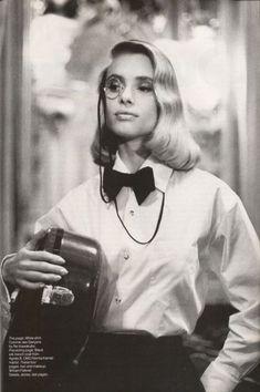 Helmut Newton Photo: Vogue US Feb 1987 - Maryam D'Abo by Helmut Newton. This Photo was uploaded by Helmut Newton, West Hollywood, Newton Photo, Vogue Us, Glamour, Vogue Magazine, Supermodels, Fashion Photography, White Photography