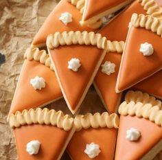 Pumpkin Pie Slice Cookies