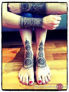 Tribal Wonder Woman henna by HennaLounge, via Flickr