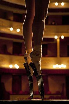 Ballerina amelie segarra dancing in knife shoes.