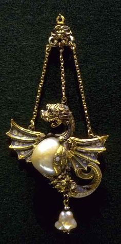 RENAISSANCE JEWELER Anonymous (c. 1500 - 1700)  Dragon pendant.