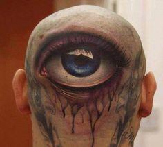 Head Tattoos - Eye Tattoo - Best Tattoos Ever - Tattoo by John Anderton - 07 Best 3d Tattoos, Tattoos 3d, Weird Tattoos, Great Tattoos, Body Art Tattoos, Awesome Tattoos, Tatoos, Epic Tattoo, Unique Tattoos
