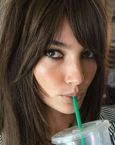 Lily Aldridge giving us major side bang inspiration.