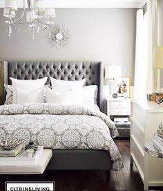 Image result for bedding for dark gray headboard