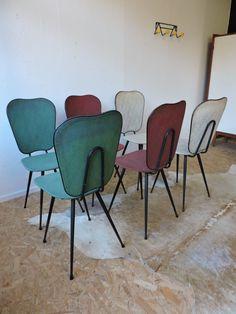 """Chaises """"sauterelle"""" des années 50"""