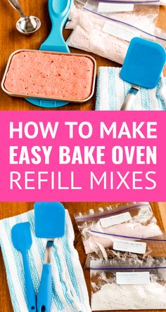 43 Trendy baking with kids cake recipes for Easy Bake Oven Refills, Easy Bake Oven Mixes, Easy Oven Recipes, Easy Bake Oven Cake Recipe, Cake Mix Recipes, Cupcake Recipes, Dessert Recipes, Cake Mixes, Drink Recipes