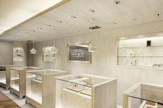 Centro felicita sendai by sure sign, sendai – japan Jewelry Store Design, Jewelry Shop, Avery Jewelry, Shop Interior Design, Retail Design, Exterior Design, Visual Merchandising, Jewellery Showroom, Counter Design