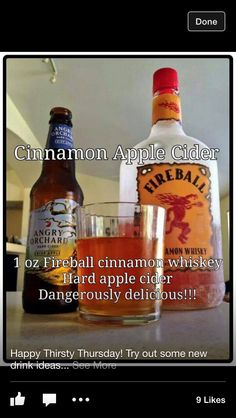 Fireball and hard cider... So good, but make sure you mix properly or it tastes like holiday air freshener