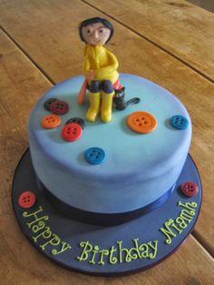 3 Year Old Birthday Cake, Book Birthday Parties, Halloween Birthday Cakes, 12th Birthday, Coraline, Beautiful Cakes, Amazing Cakes, Lps Cakes, Carolines Cakes