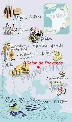La Provence avec Salon de Provence idéalement situé pour visiter les alentours ! Provence with Salon de Provence ideally located to visit the surroundings!  #SalondeProvence #HotelSelect13 #Provence #Discover #France #Weekend #Soap #Nostradamus #Map