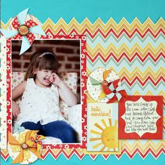 Hello Sunshine, by Stephanie Howell; from MME's blog using On the Sunny Side collection.