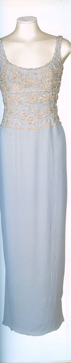 Light Blue Jeweled & Sequin Bodice Gown