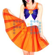 Vestido de licra de #SailorVenus #cosplay #SailorMoon #fkb