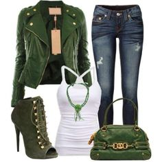 This is hot! Olive green.