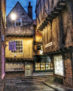 """York on Instagram: """"The night drawing in on Little Shambles, York 📷 by John Wellock #shambles #theshambles #theshamblesyork #yorkshambles #theyorkshambles…"""" York Shambles, York Uk, Night, Drawings, Instagram, Sketches, Drawing, Portrait, Draw"""