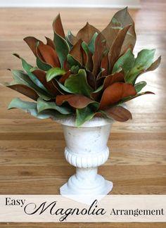 Easy Magnolia Arrangement.