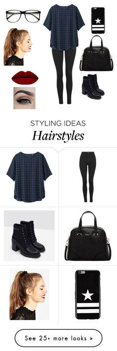 """Untitled 1"" by shreyatorvi on Polyvore featuring Topshop, Uniqlo, Zara, Furla, Givenchy, ASOS, women's clothing, women, female and woman"