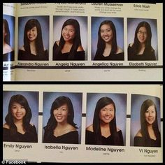 Nguyen: The eight girls from Presentation High School in San Jose, California, made fun of their shared surname with their senior year quotes.- Love it!