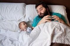 SO COOL!!!! dad and baby same dna, haha!