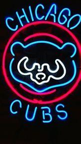 MLB CHICAGO CUBS Baseball Bear Neon Light Sign.