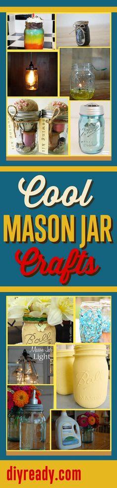 Cool Mason Jar Crafts Infographic   DIY Mason Jar Craft Ideas and DIY Projects by DIY Ready  http://diyready.com/mason-jar-crafts-cool-projects-with-mason-jars/