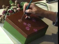 Razzle Berry Box using Acrylic Colors by Susan Scheewe